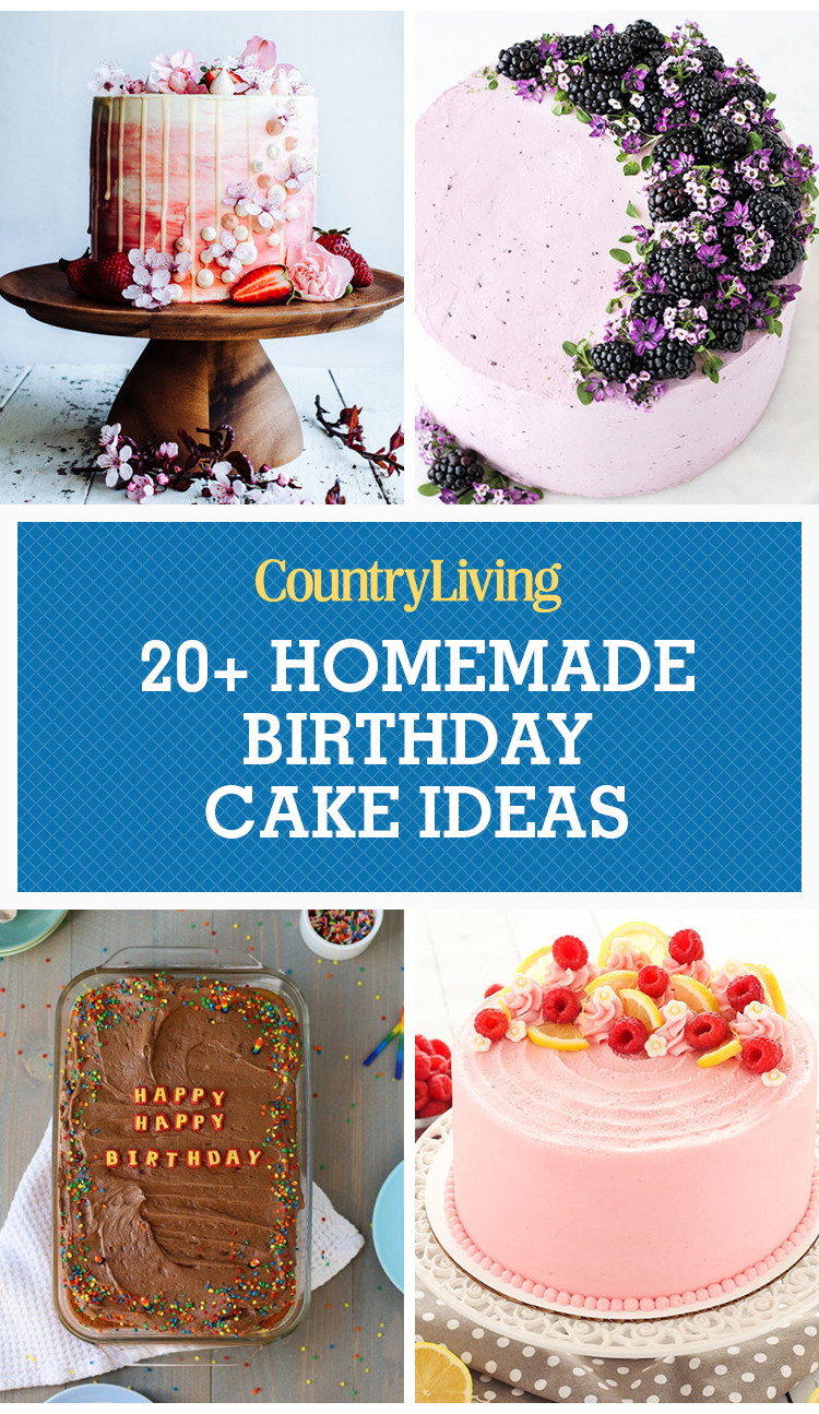 Best ideas about Homemade Birthday Decorations For Adults . Save or Pin 22 Homemade Birthday Cake Ideas Easy Recipes for Now.