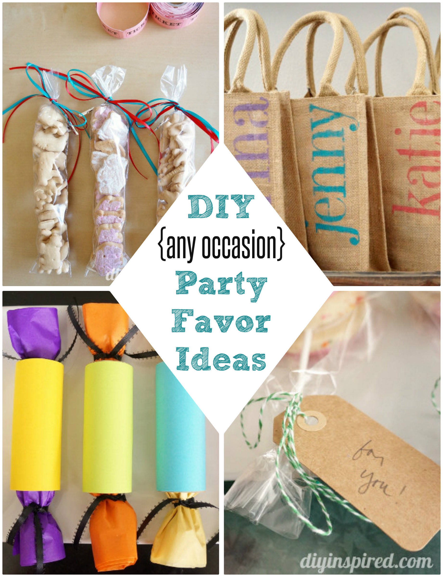 Best ideas about Homemade Birthday Decorations For Adults . Save or Pin DIY Party Favor Ideas DIY Inspired Now.