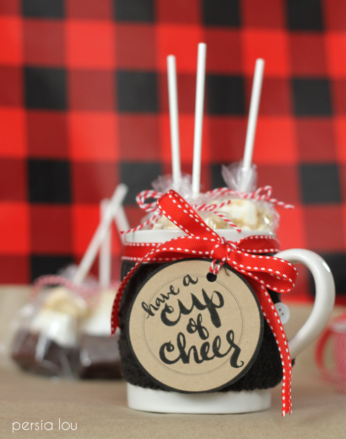 Best ideas about Homemade Cheer Gift Ideas . Save or Pin DIY Hot Chocolate Gift Idea and Free Printable Yellow Now.