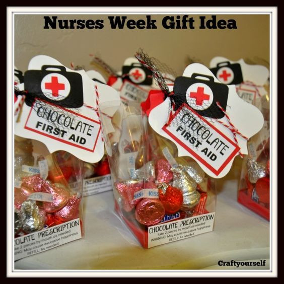 Best ideas about Homemade Nurses Week Gift Ideas . Save or Pin Chocolate First Aid Nurses Gift Idea Now.