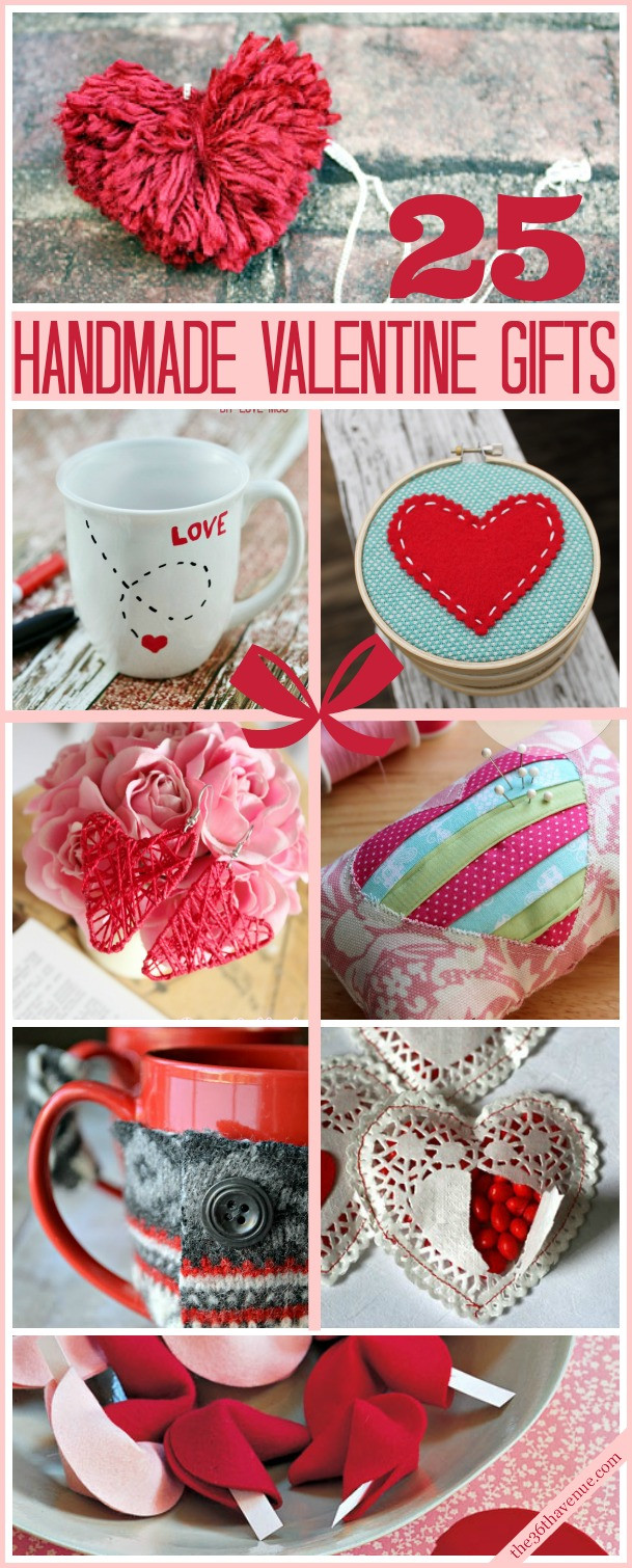 Best ideas about Homemade Valentine Gift Ideas . Save or Pin Valentine Handmade Gifts and DIY Ideas The 36th AVENUE Now.
