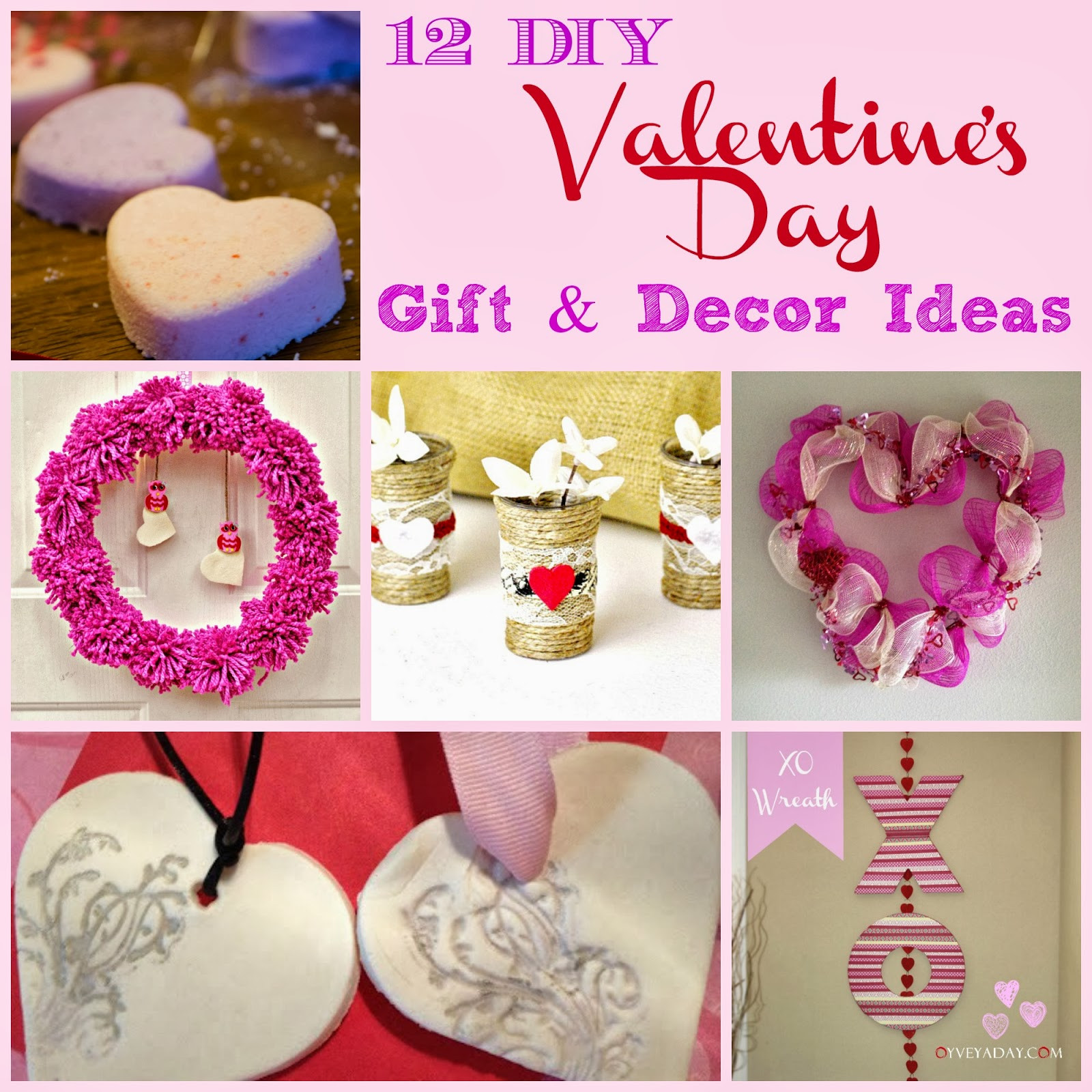 Best ideas about Homemade Valentine Gift Ideas . Save or Pin 12 DIY Valentine s Day Gift & Decor Ideas Outnumbered 3 to 1 Now.