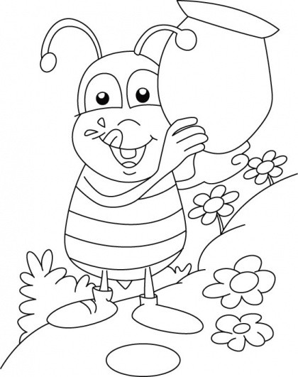 Best ideas about Honey Bee Coloring Pages For Kids . Save or Pin 60 best images about bee coloring pages on Pinterest Now.