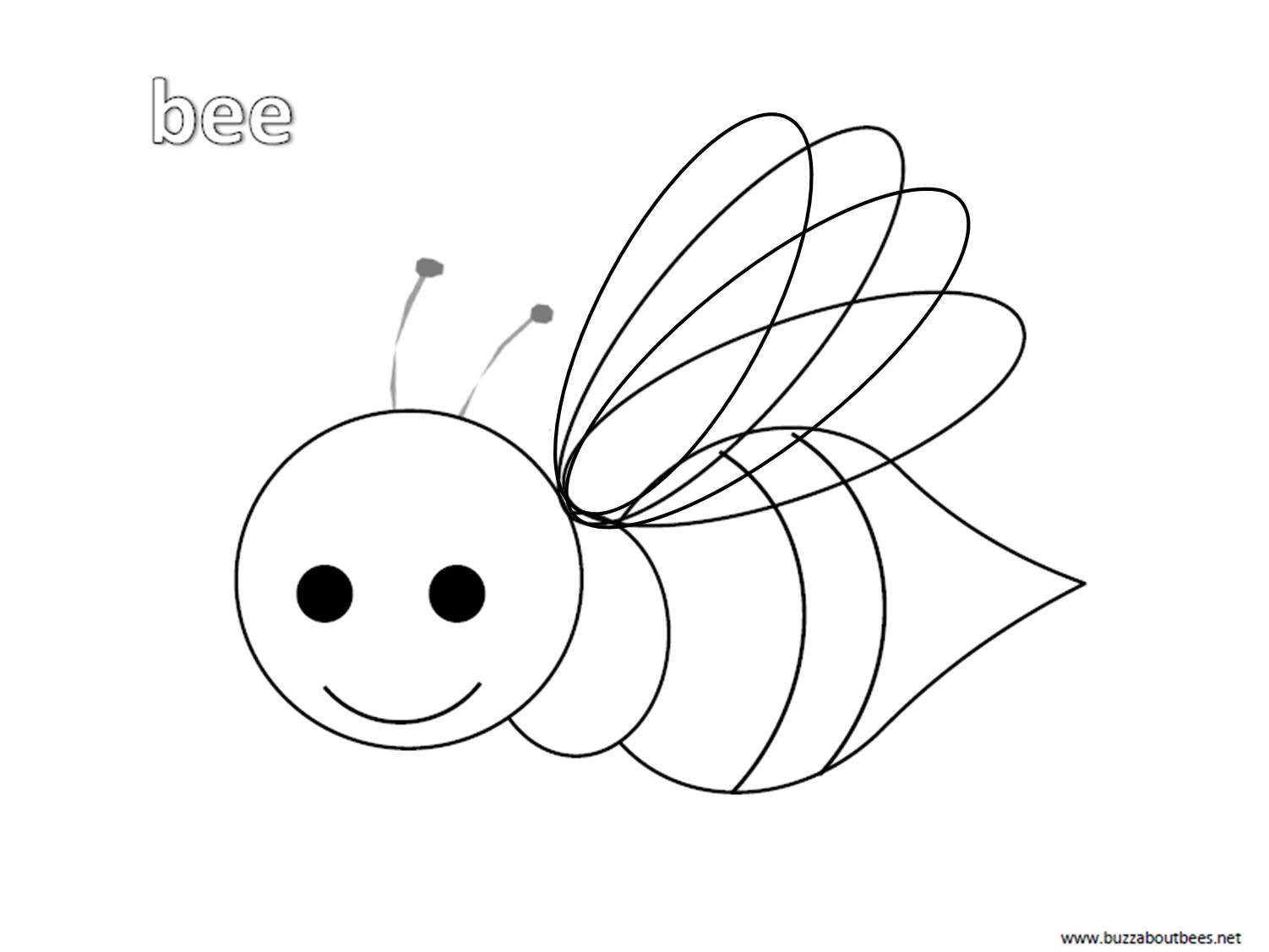 Best ideas about Honey Bee Coloring Pages For Kids . Save or Pin Bee Coloring Pages Educational Activity sheets And Now.