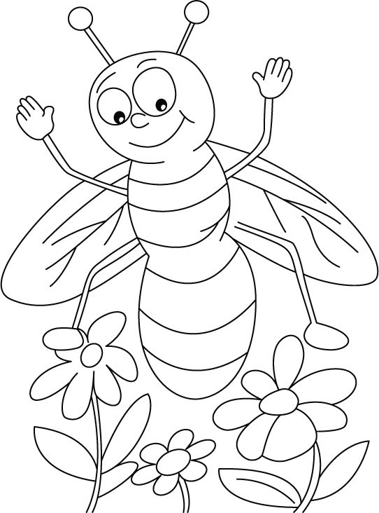 Best ideas about Honey Bee Coloring Pages For Kids . Save or Pin Honey bee coloring pages for kids ColoringStar Now.