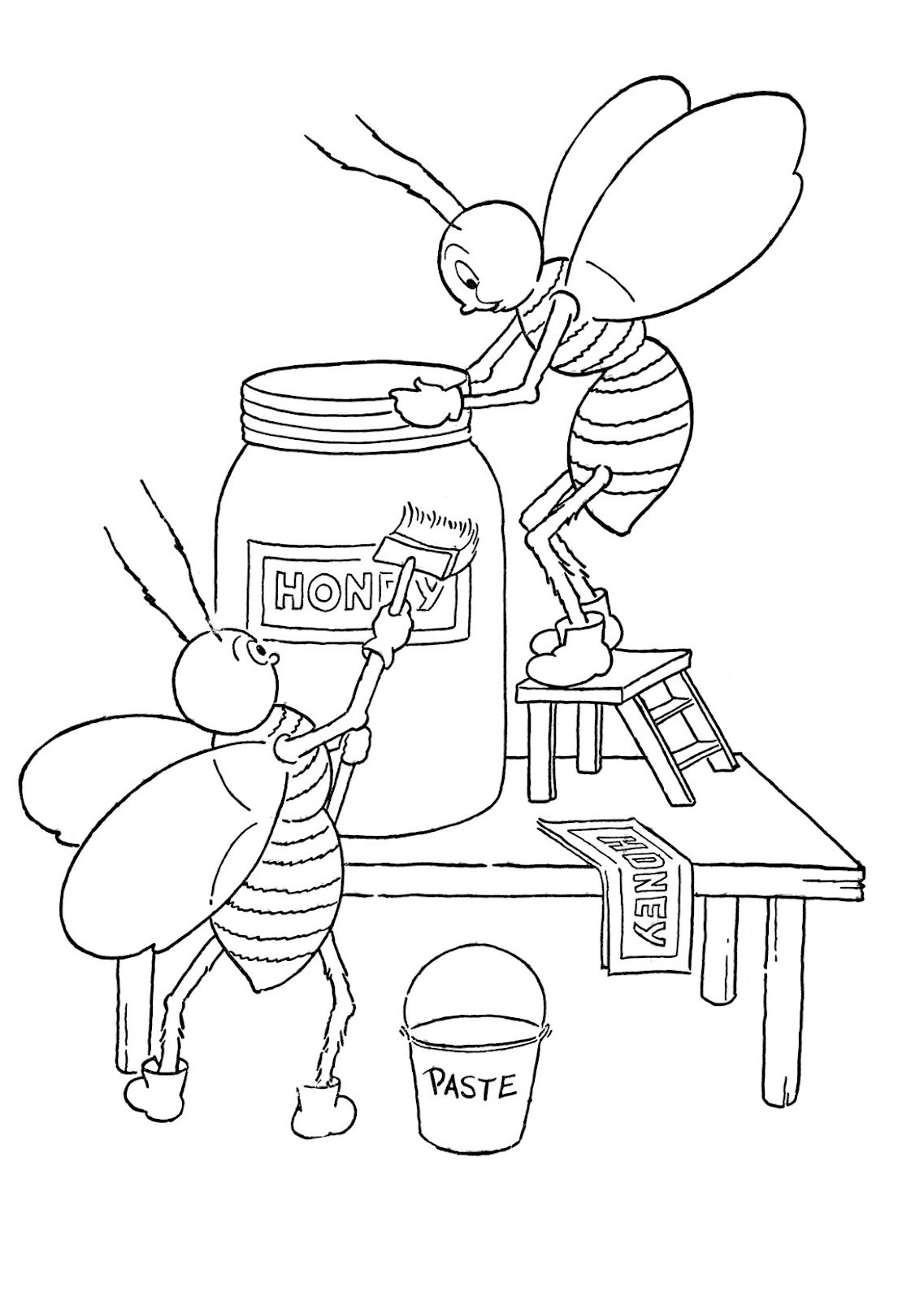 Best ideas about Honey Bee Coloring Pages For Kids . Save or Pin Kids Printable Honey Bees Coloring Page The Graphics Fairy Now.