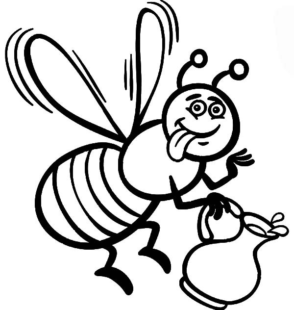 Best ideas about Honey Bee Coloring Pages For Kids . Save or Pin Beautiful Honey Bee Coloring Pages Now.