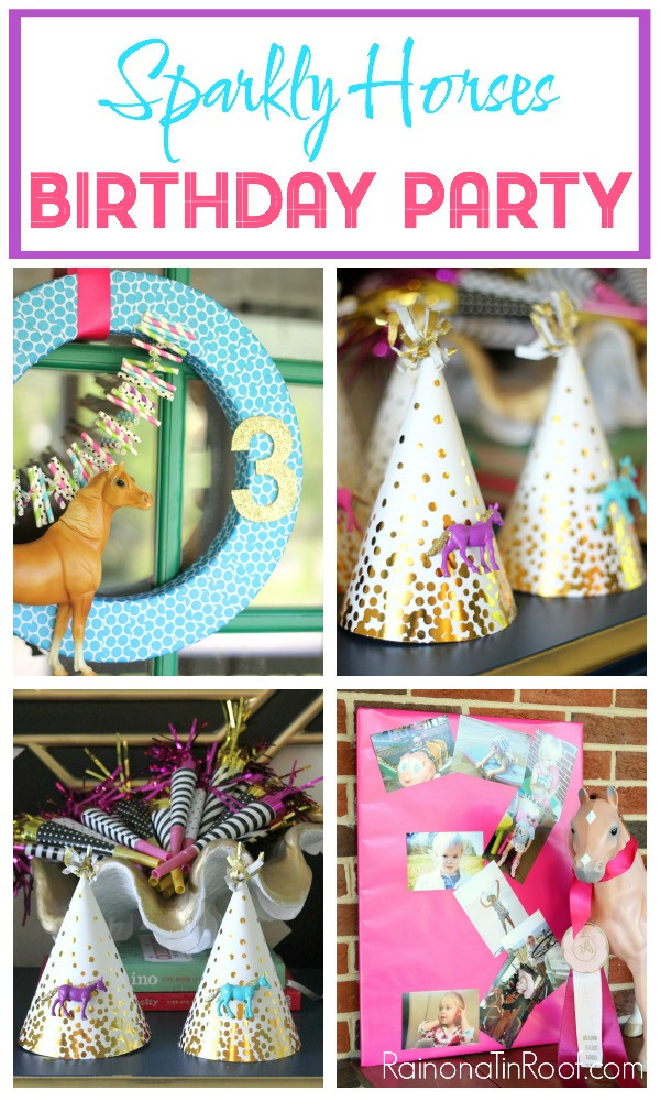Best ideas about Horse Birthday Party Supplies . Save or Pin Sparkly Horse Birthday Party Now.