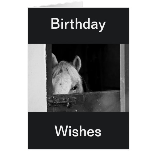 Best ideas about Horse Birthday Wishes . Save or Pin A Horse in the Stables Birthday Wishes Card Cards Now.