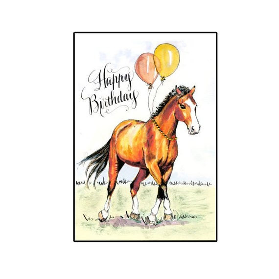 Best ideas about Horse Birthday Wishes . Save or Pin Handmade Birthday Horse Card Bay Horse Birthday Horse with Now.