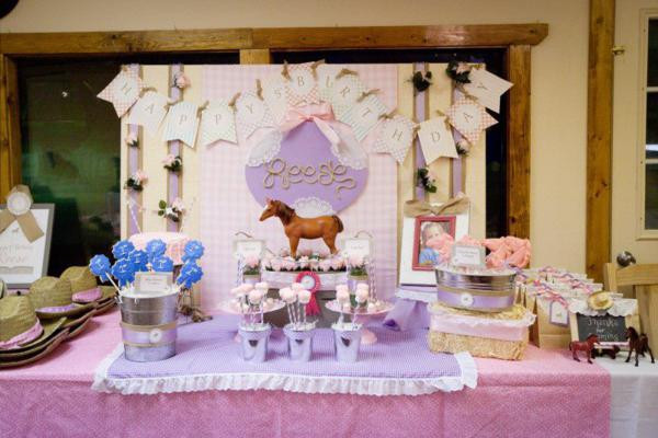 Best ideas about Horse Decorations For Birthday Party . Save or Pin Kara s Party Ideas Girl Vintage Horse Cowboy Themed 5th Now.