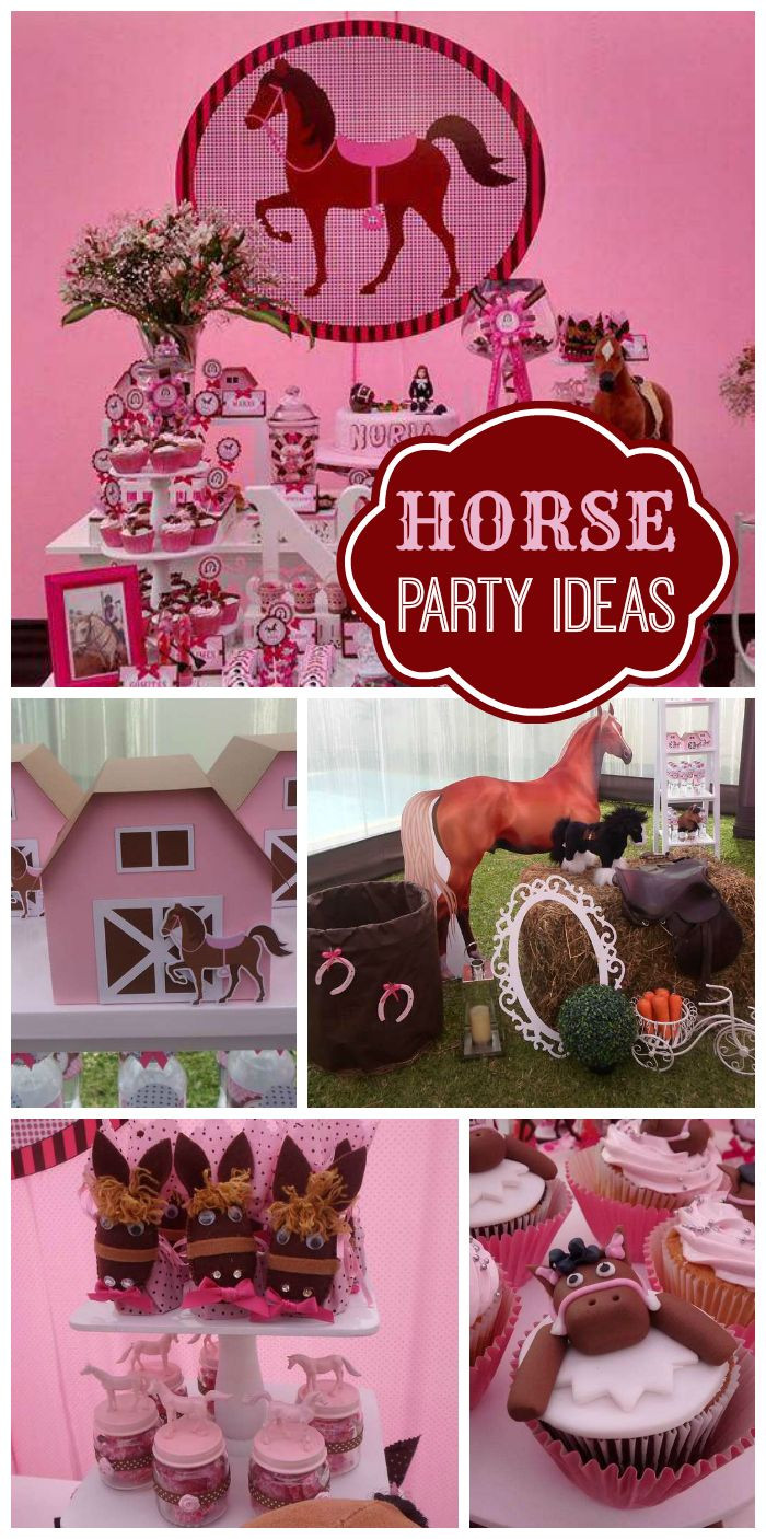 Best ideas about Horse Decorations For Birthday Party . Save or Pin Best 25 Horse Birthday Parties ideas only on Pinterest Now.