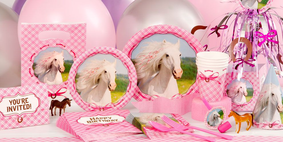 Best ideas about Horse Decorations For Birthday Party . Save or Pin Heart My Horse Party Supplies Horse Birthday Decorations Now.