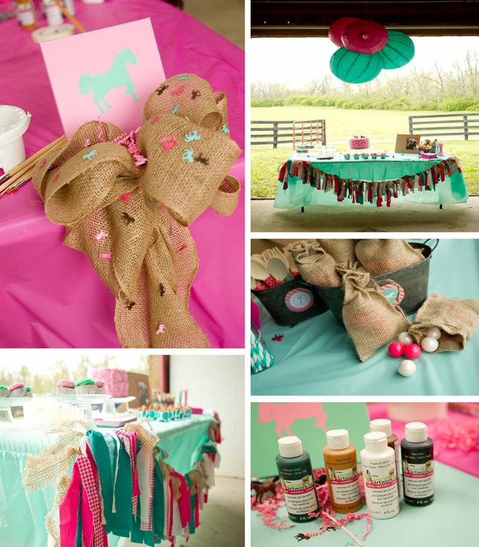 Best ideas about Horse Decorations For Birthday Party . Save or Pin Kara s Party Ideas Horse Art Party Planning Decorations Now.