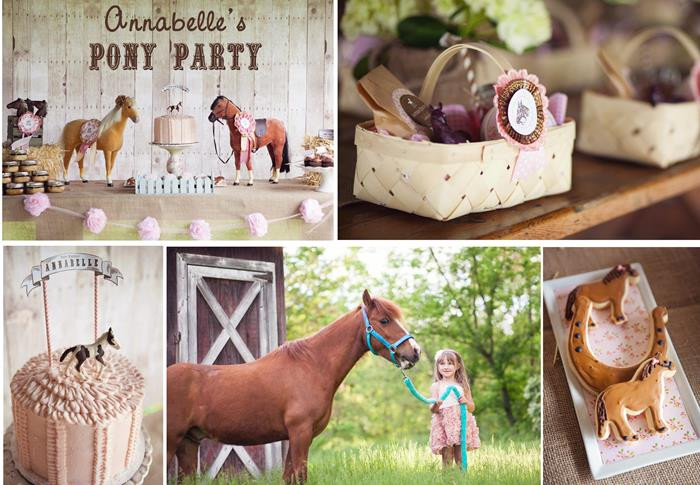Best ideas about Horse Decorations For Birthday Party . Save or Pin Kara s Party Ideas Vintage Pony Party Planning Ideas Now.