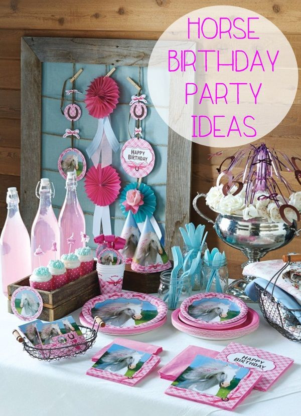 Best ideas about Horse Decorations For Birthday Party . Save or Pin Best 25 Horse birthday parties ideas on Pinterest Now.