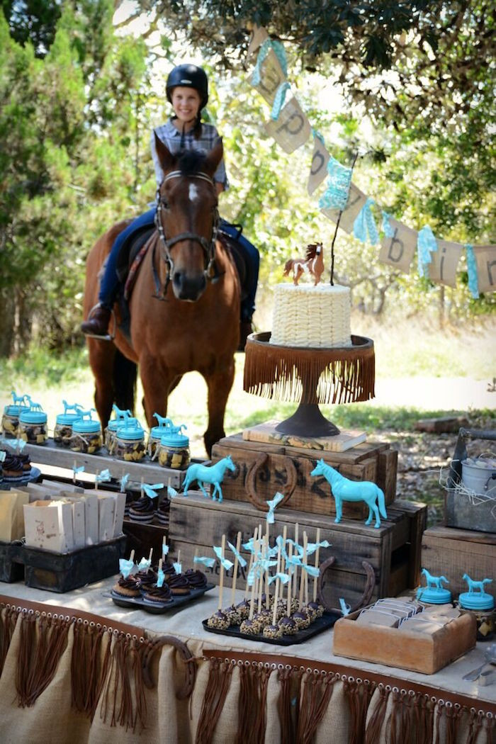 Best ideas about Horse Decorations For Birthday Party . Save or Pin Kara s Party Ideas Rustic Horse Birthday Party Now.