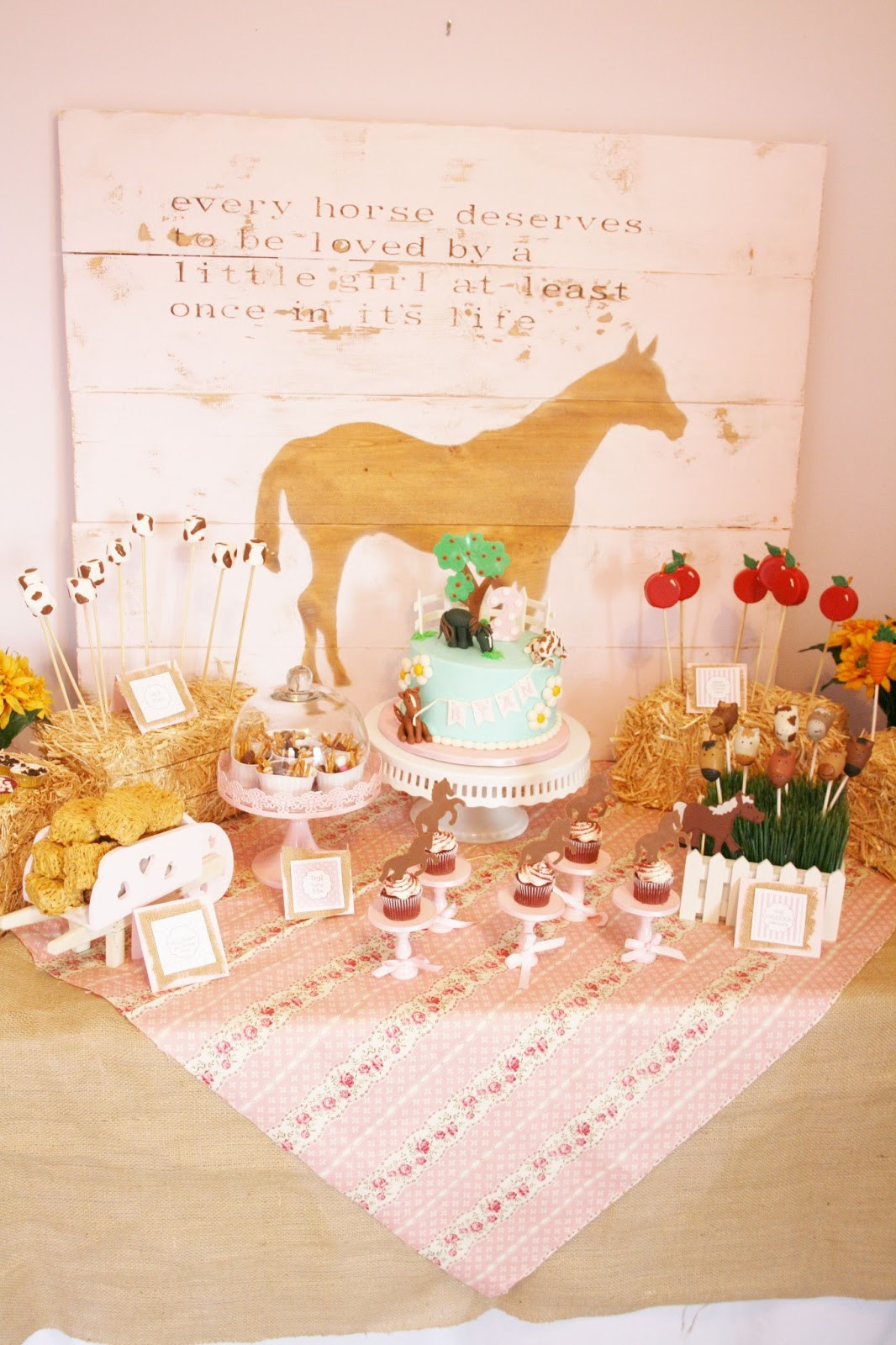 Best ideas about Horse Decorations For Birthday Party . Save or Pin And Everything Sweet Horse Themed 2nd Birthday Now.