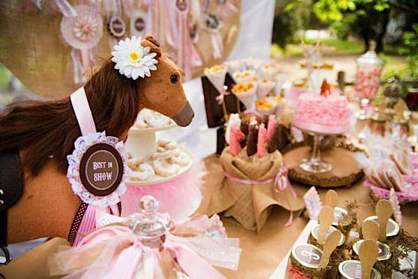 Best ideas about Horse Decorations For Birthday Party . Save or Pin Kara s Party Ideas Pony Themed 3rd Birthday Party Now.