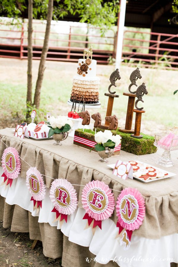 Best ideas about Horse Decorations For Birthday Party . Save or Pin 17 Best ideas about Horse Birthday Parties on Pinterest Now.