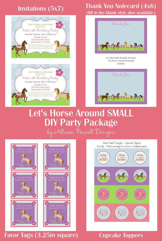 Best ideas about Horse Riding Birthday Party . Save or Pin Horse Horseback Riding Pony Birthday Party Invitation Now.