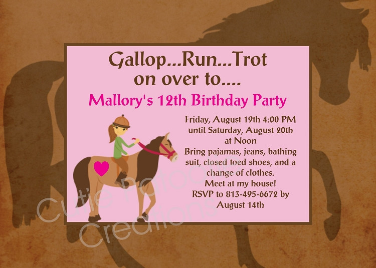 Best ideas about Horse Riding Birthday Party . Save or Pin Horseback Riding Birthday Party Invitations Printable or Now.