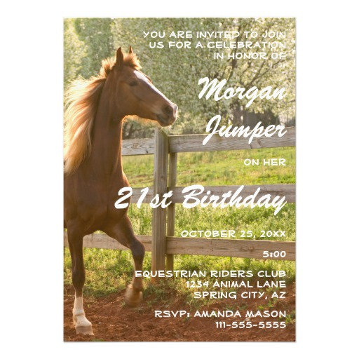 Best ideas about Horse Riding Birthday Party . Save or Pin 2 000 Horse Birthday Invitations Horse Birthday Now.