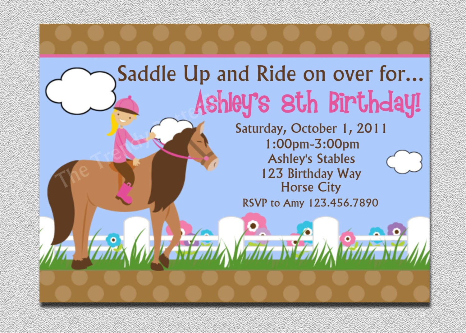 Best ideas about Horse Riding Birthday Party . Save or Pin Horseback Riding Birthday Invitation Western Horse Birthday Now.