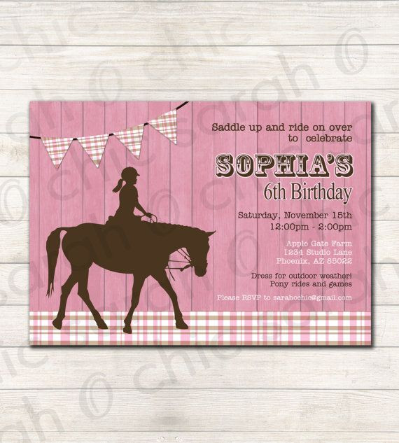 Best ideas about Horse Riding Birthday Party . Save or Pin Best 25 Horse birthday parties ideas on Pinterest Now.