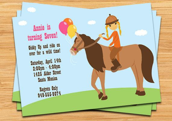 Best ideas about Horse Riding Birthday Party . Save or Pin Horseback Riding Birthday Party Invitation by eventfulcards Now.