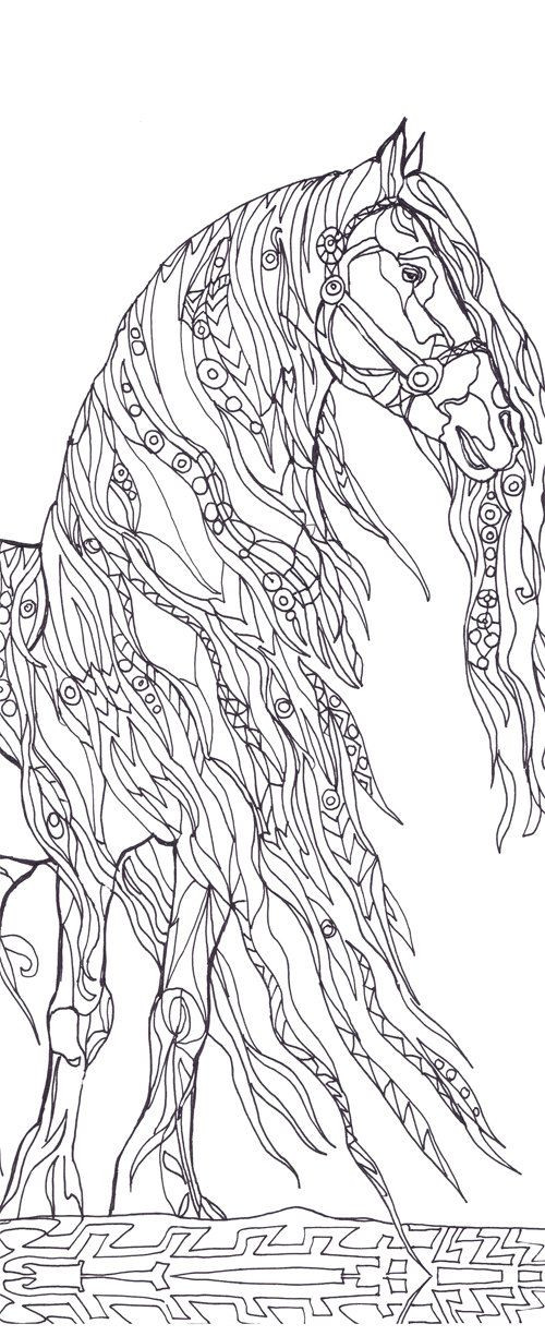 Best ideas about Horses Coloring Pages For Adults . Save or Pin Coloring pages Horse Printable Adult Coloring book Clip Now.