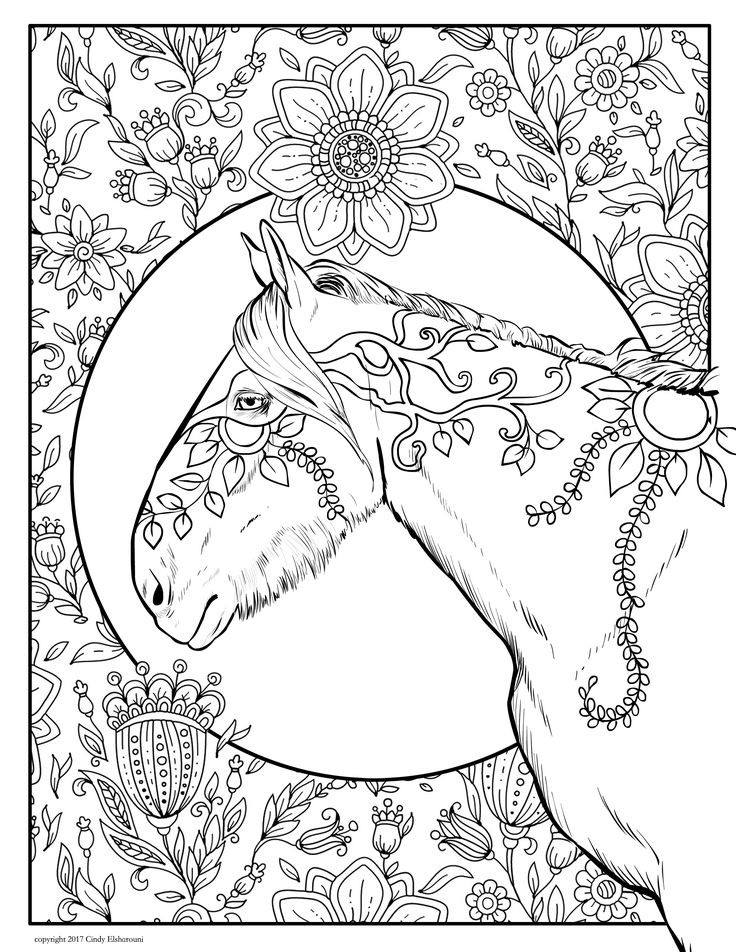 Best ideas about Horses Coloring Pages For Adults . Save or Pin 180 bästa bilderna om Horse Lovers Coloring Books på Now.