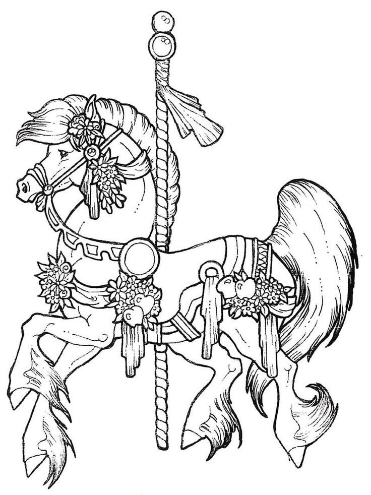 Best ideas about Horses Coloring Pages For Adults . Save or Pin Carousel Coloring Pages Coloring Home Now.