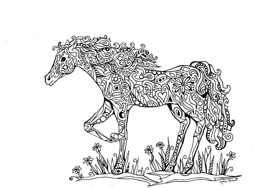 Best ideas about Horses Coloring Pages For Adults . Save or Pin Intricate Coloring Pages for Adults Now.