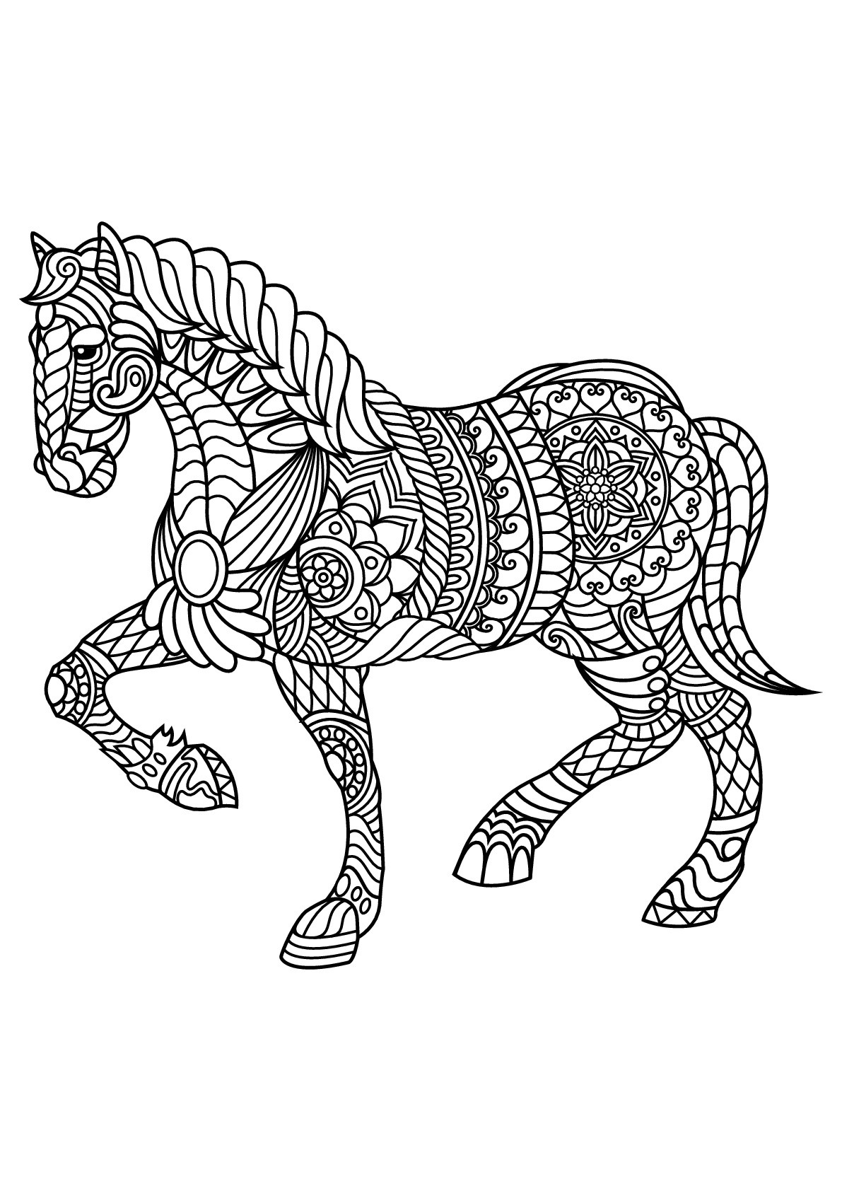 Best ideas about Horses Coloring Pages For Adults . Save or Pin Free book horse Horses Adult Coloring Pages Now.