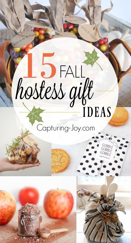 Best ideas about Host Gift Ideas . Save or Pin 15 Hostess Gift Ideas for Fall Fall Gift Ideas to show Now.
