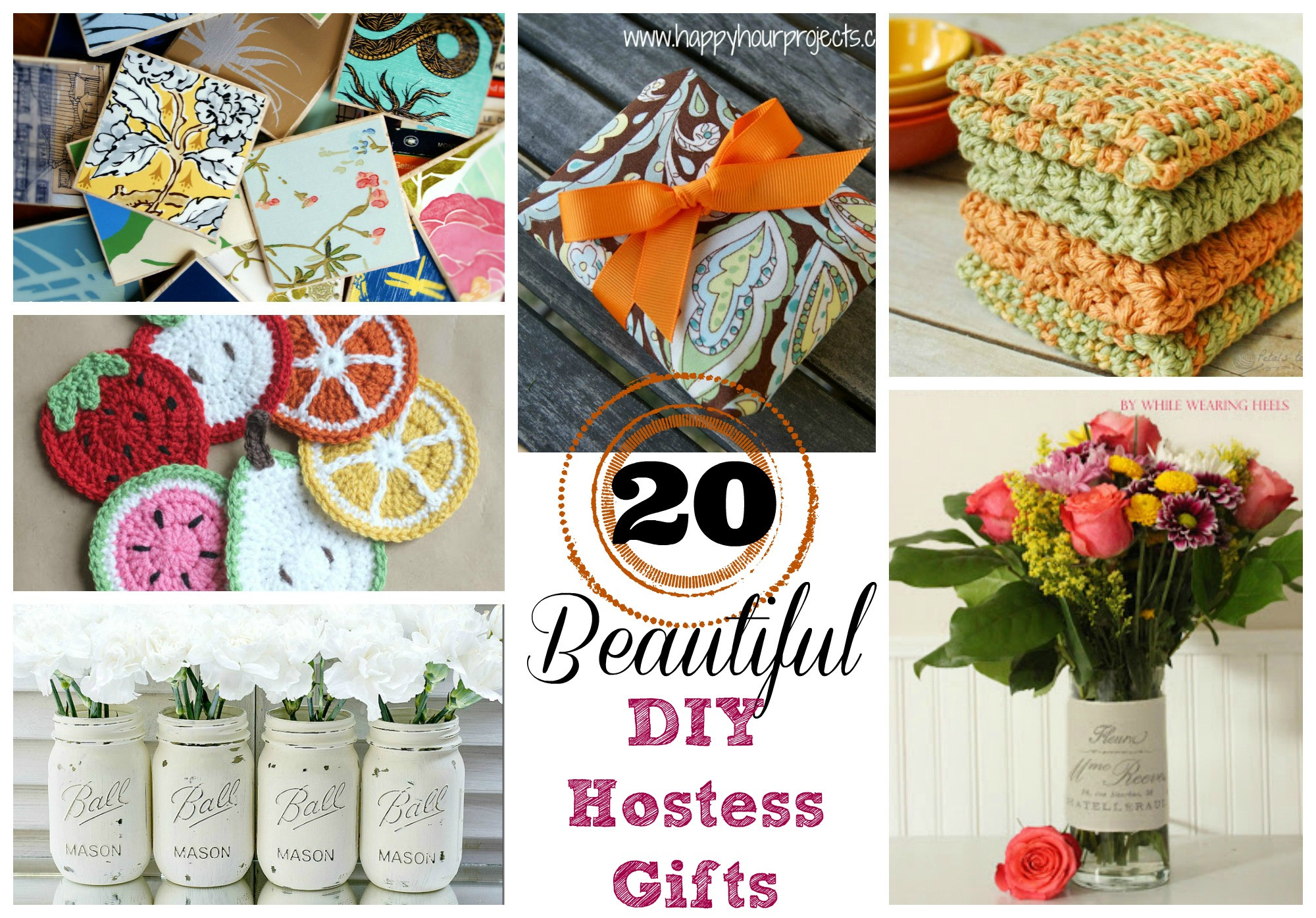 Best ideas about Host Gift Ideas . Save or Pin 20 Beautiful DIY Hostess Gifts Suburble Now.