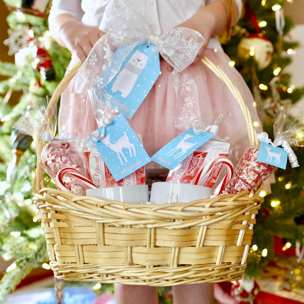 Best ideas about Hot Chocolate Gift Basket Ideas . Save or Pin Hot Cocoa Gift Basket Cute Printable Tags Make Life Lovely Now.