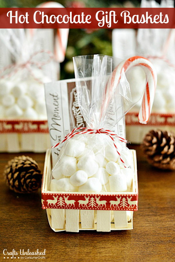 Best ideas about Hot Chocolate Gift Basket Ideas . Save or Pin 35 Creative DIY Gift Basket Ideas for This Holiday Hative Now.