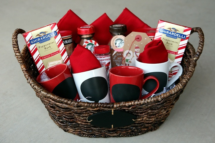 Best ideas about Hot Chocolate Gift Basket Ideas . Save or Pin Hot chocolate basket Gifts Now.