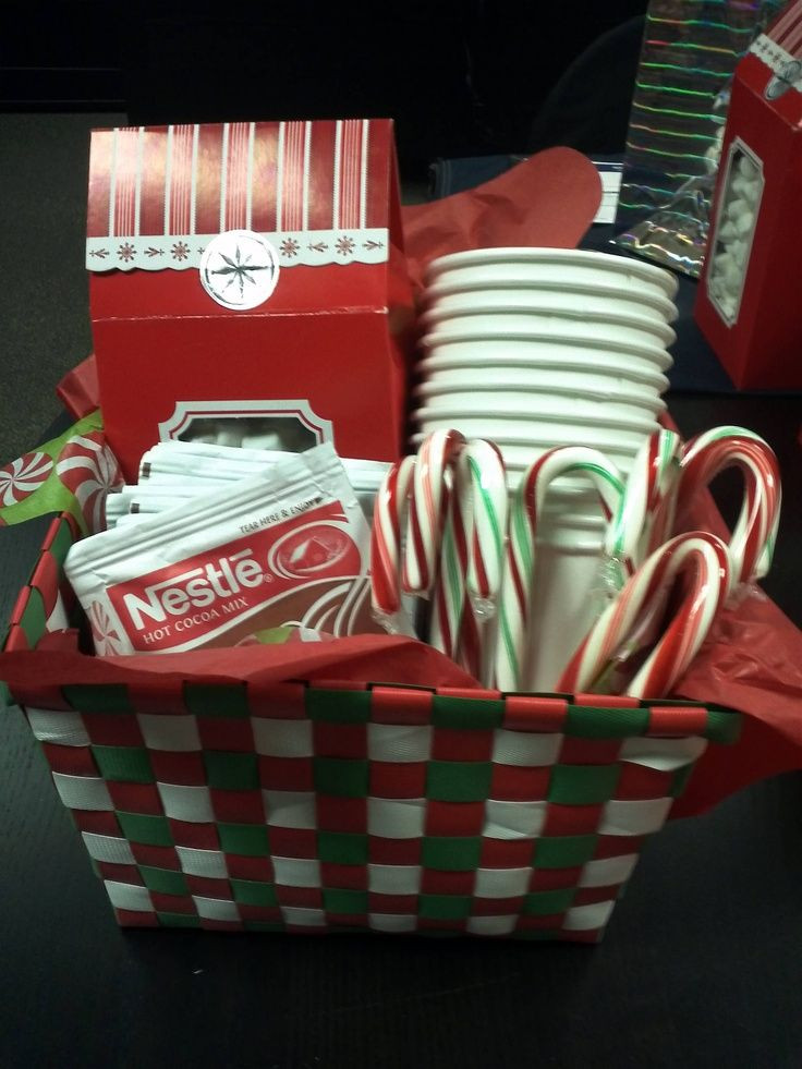 Best ideas about Hot Chocolate Gift Basket Ideas . Save or Pin Hot chocolate t basket Great neighbor t idea I Now.