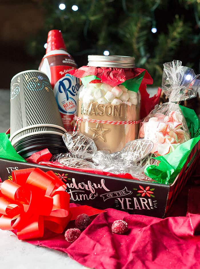 Best ideas about Hot Chocolate Gift Basket Ideas . Save or Pin DIY Christmas Gift Baskets Now.