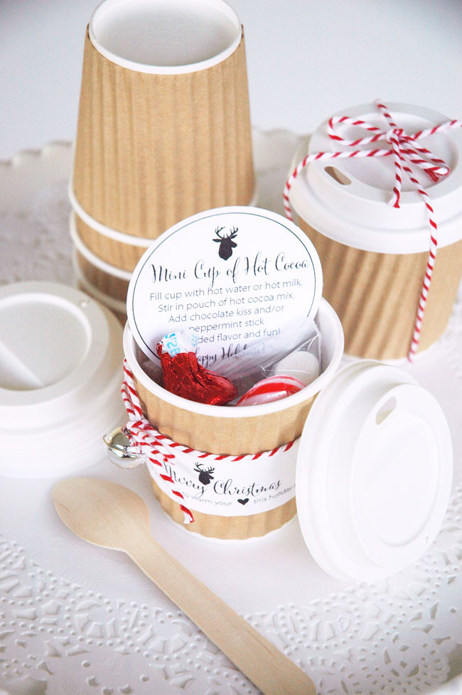 Best ideas about Hot Cocoa Gift Ideas . Save or Pin Mini Hot Cocoa Cups Holiday Gift Idea Now.