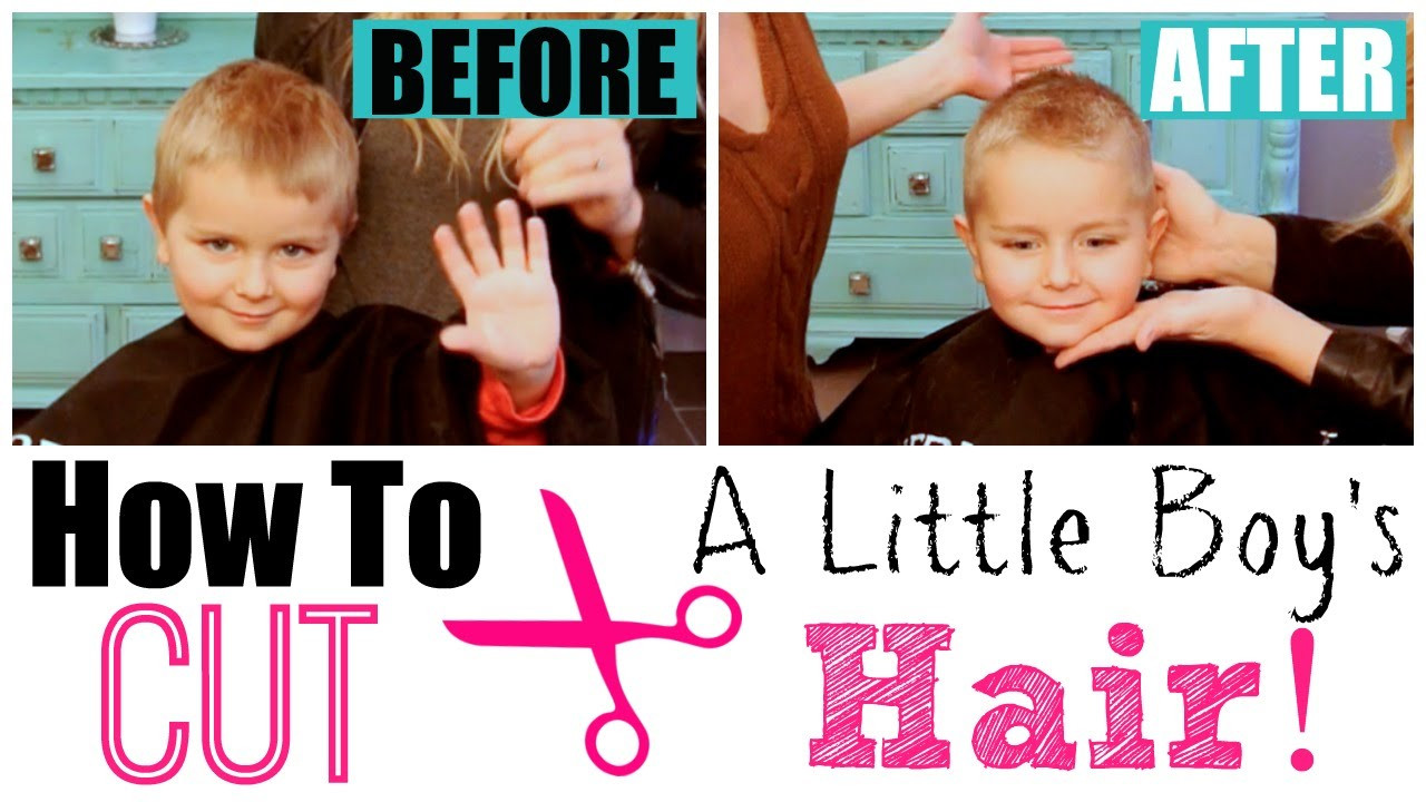 Best ideas about How To Cut Boys Hair With Scissors . Save or Pin How to Cut Little Boy's Hair with Clippers & Scissors Now.