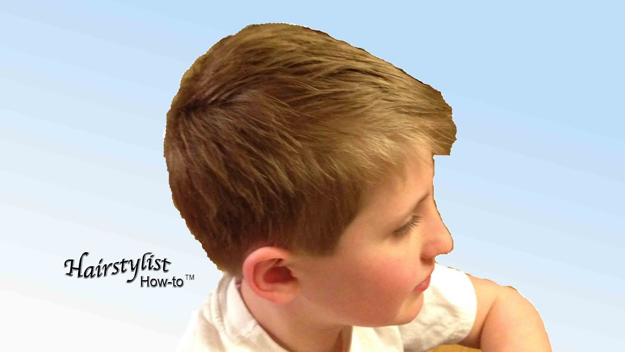 Best ideas about How To Cut Boys Hair With Scissors . Save or Pin How to do a Boy s Haircut Scissor Over b Dry Now.