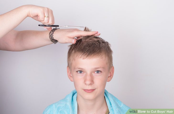 Best ideas about How To Cut Boys Hair With Scissors . Save or Pin 3 Ways to Cut Boys Hair wikiHow Now.