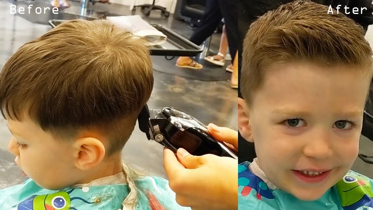 Best ideas about How To Cut Boys Hair With Scissors . Save or Pin How to Cut Little Boys Hair with Clippers & Scissors Now.
