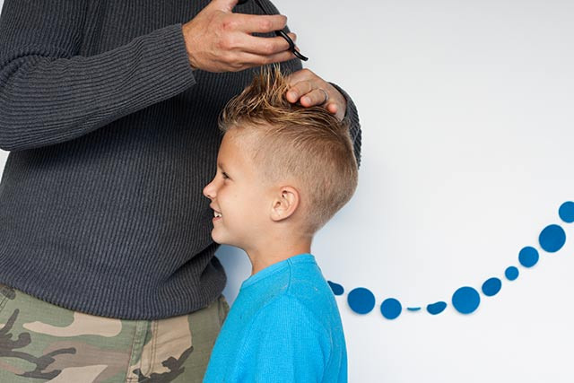 Best ideas about How To Cut Boys Hair With Scissors . Save or Pin LITTLE BOY HAIRCUT DIY Now.