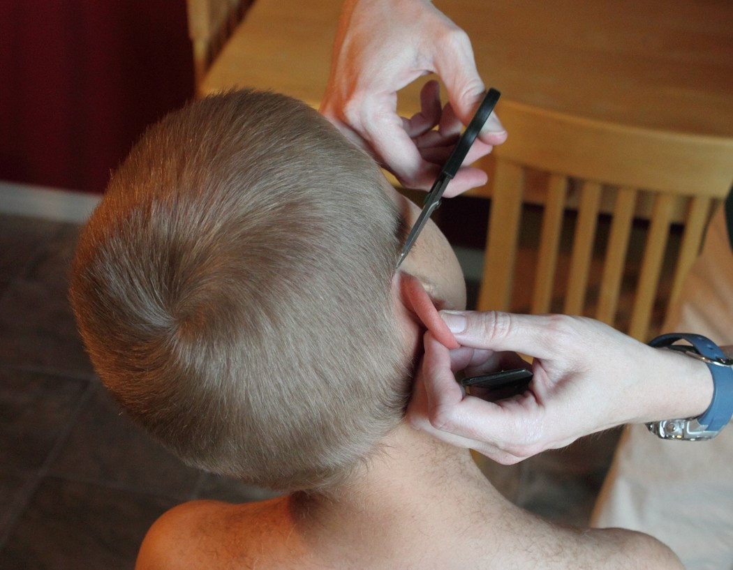 Best ideas about How To Cut Boys Hair With Scissors . Save or Pin How to do a Boy s Haircut with Clippers Frugal Fun For Now.