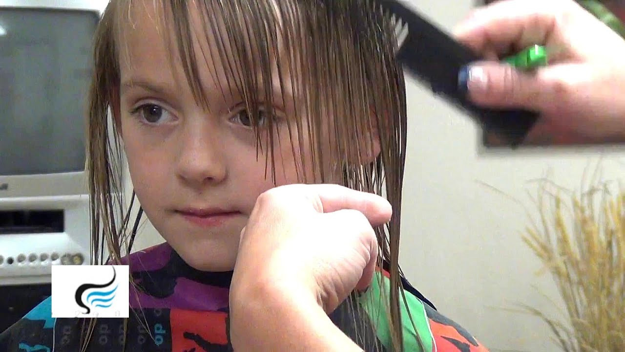 Best ideas about How To Cut Girls Hair . Save or Pin How To Cut Hairstyles with Bangs Little Girls Haircut Now.